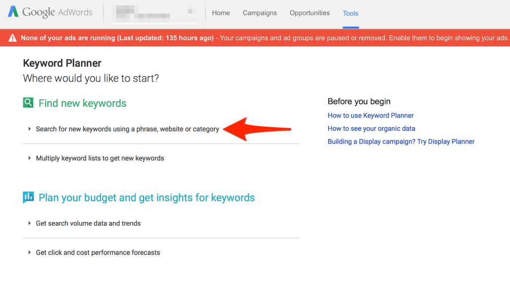 YouTube 2 Keyword Planner