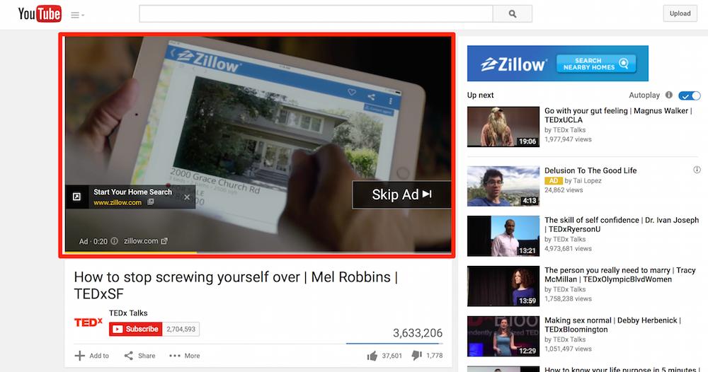 YouTube Skippable Ad