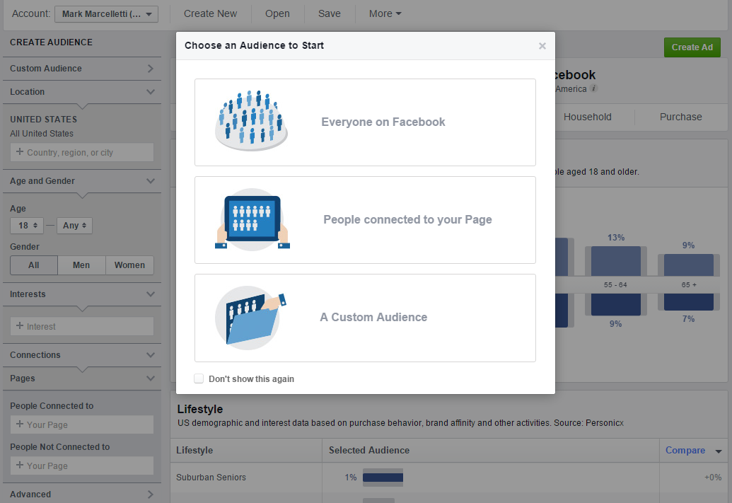 Selecting Specific Facebook Audience Insights Parameters Uncategorized