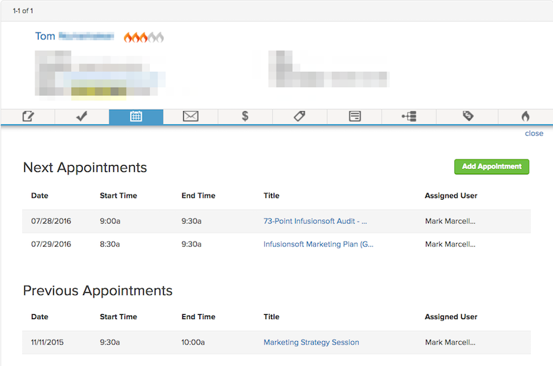 Image of Infusionsoft Appointments