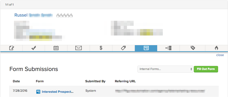 Image of Infusionsoft Form Submissions